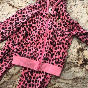 Juicy Track Suit Pink Animal Print 3T